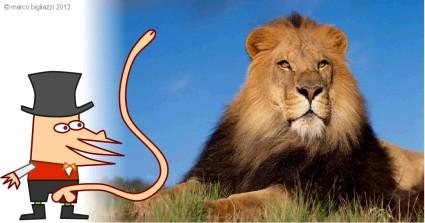 Pypys the lion tamer